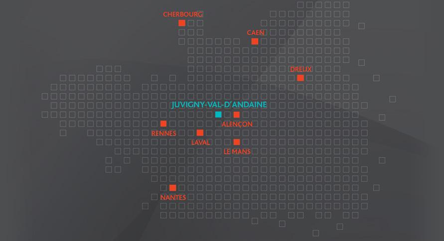 Carte de l'ouest